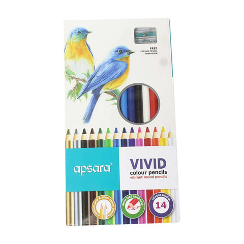 Apsara Vivid Colour Pencils - 14 Colours price in Nepal