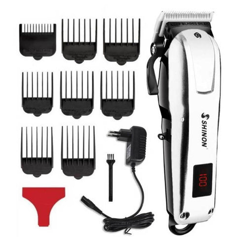 Professional Powerful Cordless Hair Clipper LCD digital Electric Hair Clipper Beard Men Hair Cutting Machine Barber Haircut price in nepal