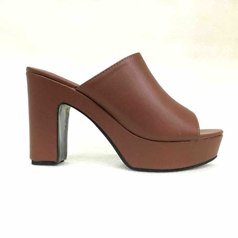 Coffee Brown Comfortable Peep Toe Sandal For Women price in nepal