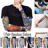 Anti-Uv Fake Tattoo Body Arm Nylon Elastic Temporary Sleeve Stockings