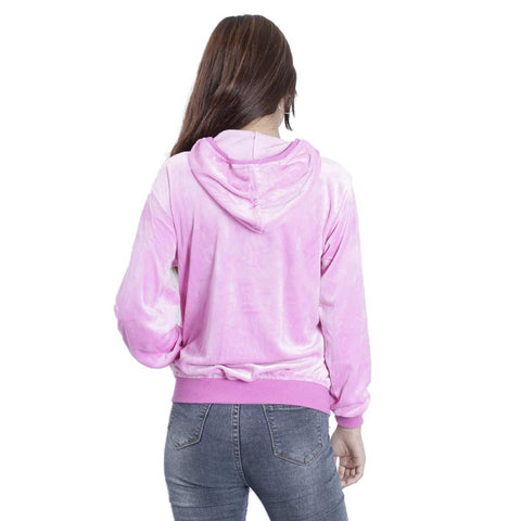 Women's Velvet Full Sleeved Front Open Hoodie by Attire Nepal
