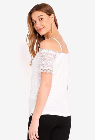 Dorothy Perkins Cold Shoulder Lace Tops