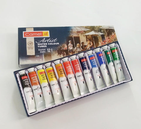 Camel Artist's Watercolor Set, 12 Shades, 20ml Each price in Nepal