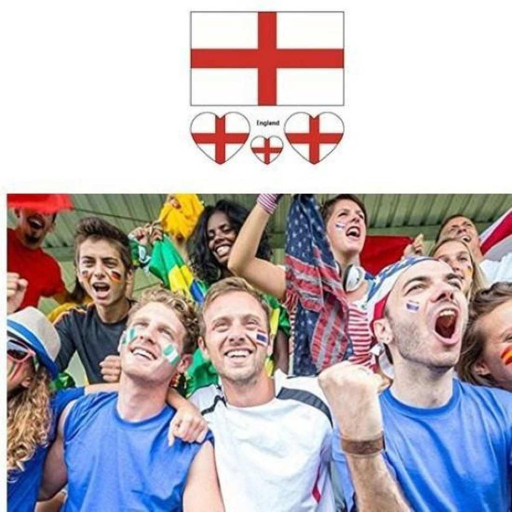 5 Pcs Multicolored 2018 World Cup Fifa England National Flag Tattoo Sticker  price in Nepal