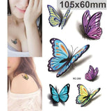 Colorful Butterfly 3D Temporary Tattoo Body Art Flash Tattoo Stickers price in Nepal