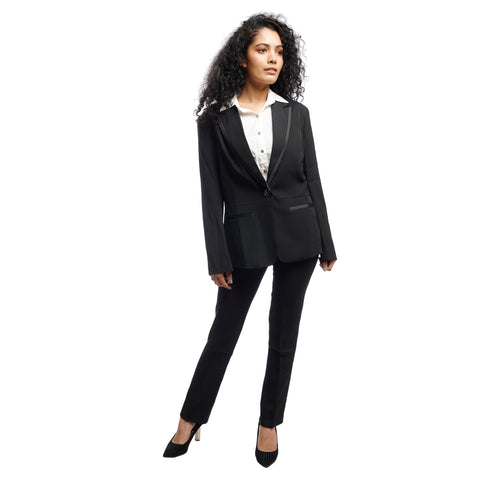 Women's Single Breasted waist lined Structured Blazer by Attire Nepal price in Nepal