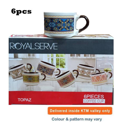 Royal Serve Topaz 6 Pcs Ceramic Cup Set price in nepal