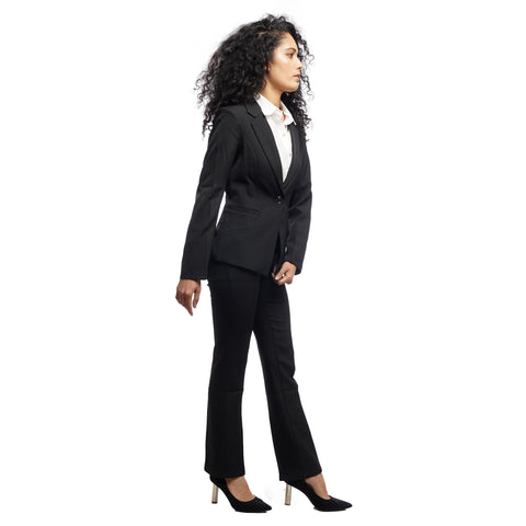 Women's Structured Notched Lapel Single Breasted Blazer by Attire Nepal