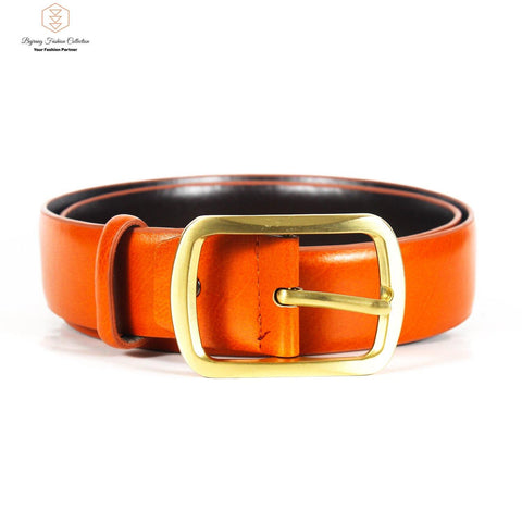 Leather Belt With Brass Buckle Classy Jeans Belt For Men By Bajrang