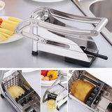 Potato Cutter Slicer Stainless Steel French Fry Chopper with 2 Blades for Vegetable