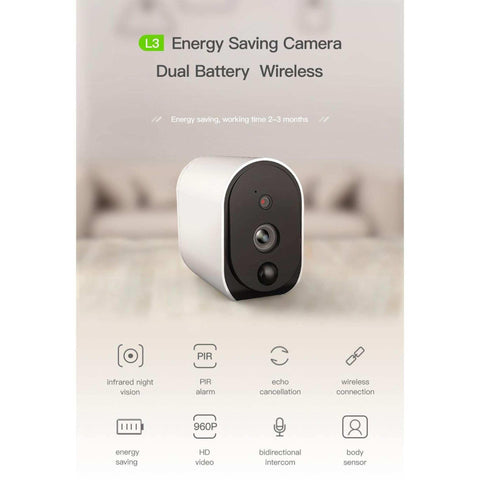 New Meisort L3 Mini Ip Camera 2*18650 Battery Wifi Camera 1080P Hd Video Waterproof Infrared Pir Outdoor Home Monitor Alert price in nepal