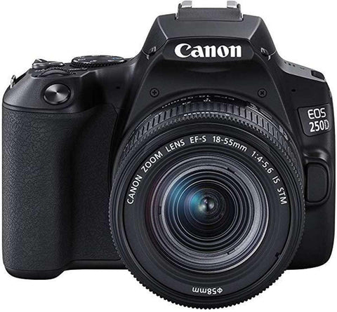 Canon EOS 250D 24.1MP Digital SLR Camera + EF-S 18-55mm f4 is STM Lens (Black) + 16GB Card + Camera Bag price in Nepal