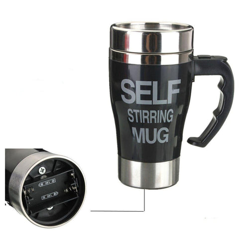 Coffee Maker Mug Self Stirring Self Mixing Cup, 400Ml, Battery Operated