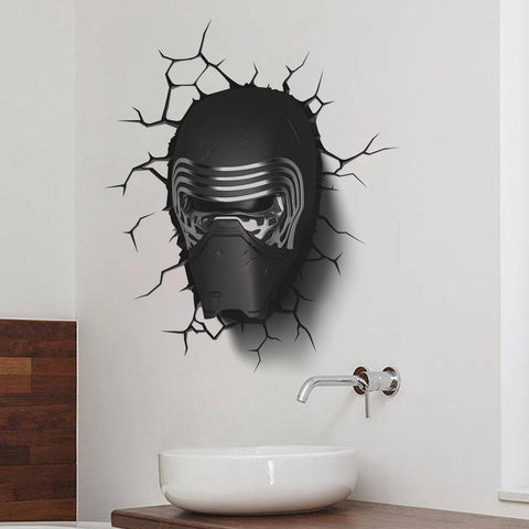 3D Star War Awakens Dark Knight Helmet Handsome Cartoon Wall Stickers price in Nepal