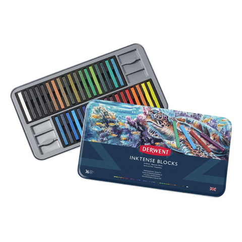 Derwent Inktense Watersoluble Ink Blocks Tin (Set of 36) price in Nepal