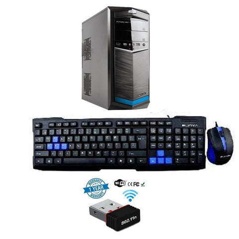 Wifi Desktop Computer CPU Assemble Intel Core 2 DUO/ 8GB DDR3/ 500 GB HDD Intel HD Graphics 64 bit Windows 10