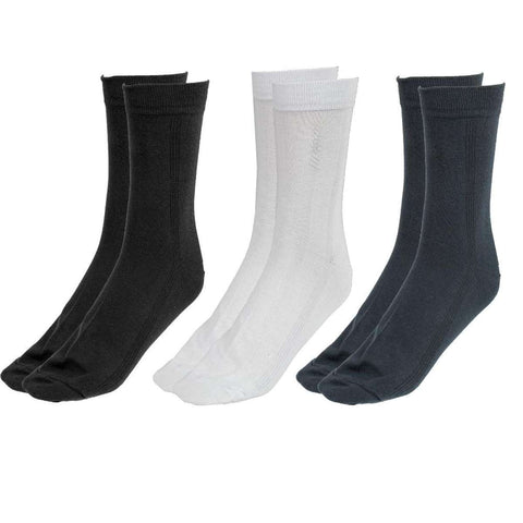 Pack Of 3 Long Socks For Men - (Black/White/Grey)