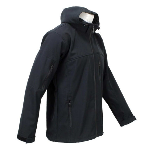 Black Solid Softshell Jacket For Men price in nepal