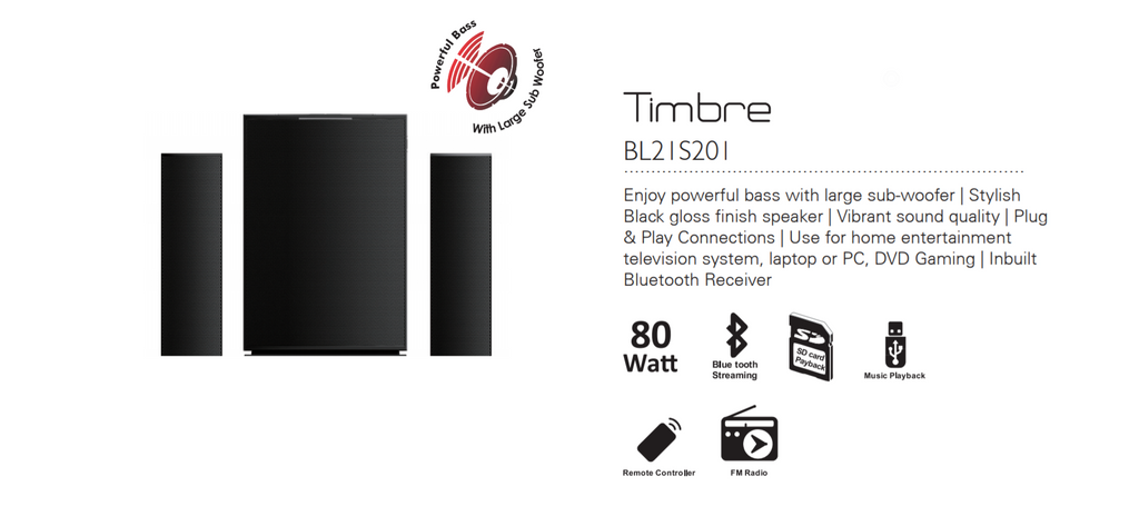 Baltra Timbre 2.1 Sound System 80W