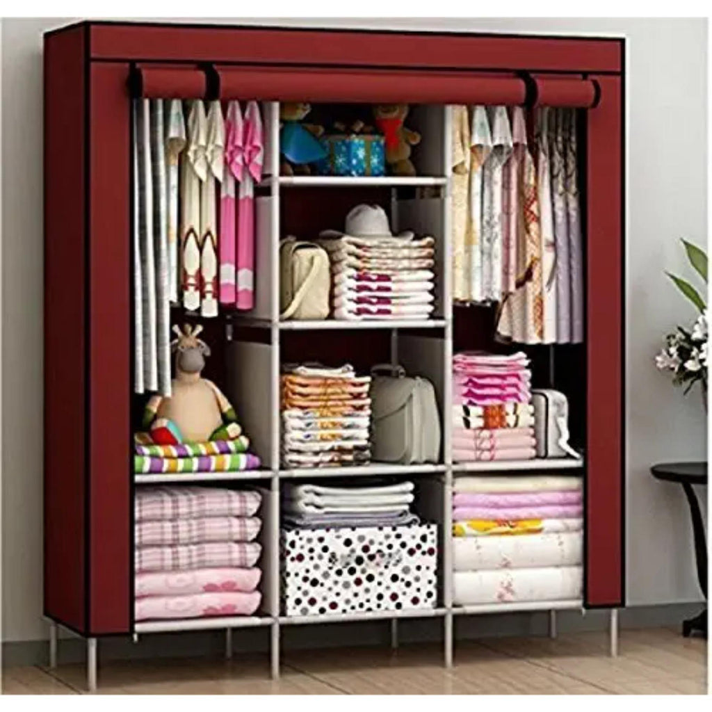 Elegant Foldable Cloth Wardrobe (Color May Vary)