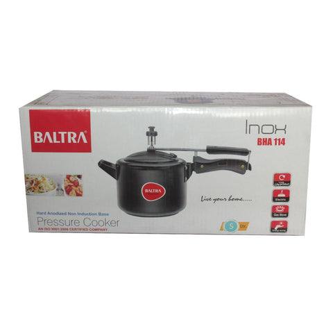 Baltra Hard Anodized Non-Induction Base Pressure Cooker 5L
