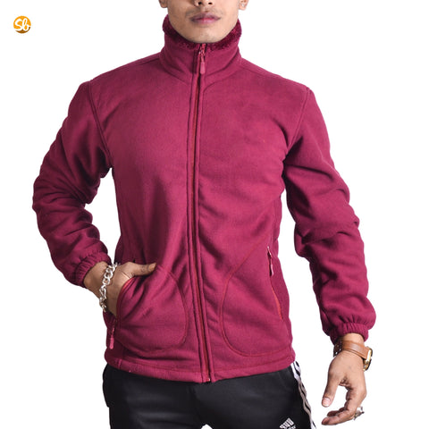Fleece Jacket with Fur Inside For Men