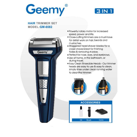 3 IN 1 Professional Hair Trimmer Rechargeable Hair Clipper Nose Trimmer Shaver Cordless price in nepal