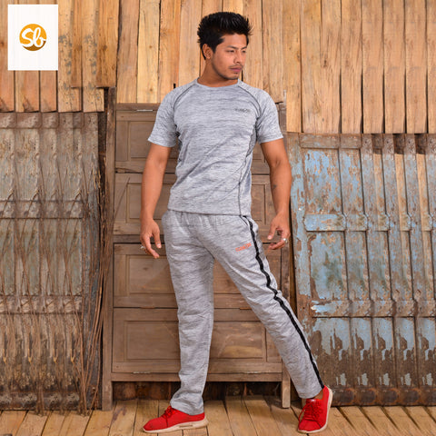 Knitted Cotton Sports Winter T-Shirt And Trouser Set For Men price in nepal