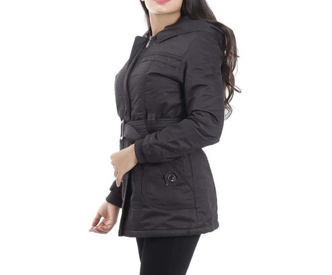 Attire Nepal Black Solid With Belt Jacket For Women price in Nepal