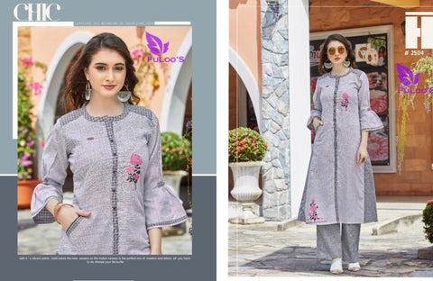 Dream Line Linen Square Western Top with Embroidery Work bottom #2504 price in nepal