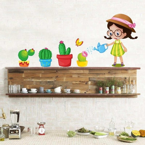 Creative Decoration Cartoon 3D Flower Wall Sticker price in Nepal