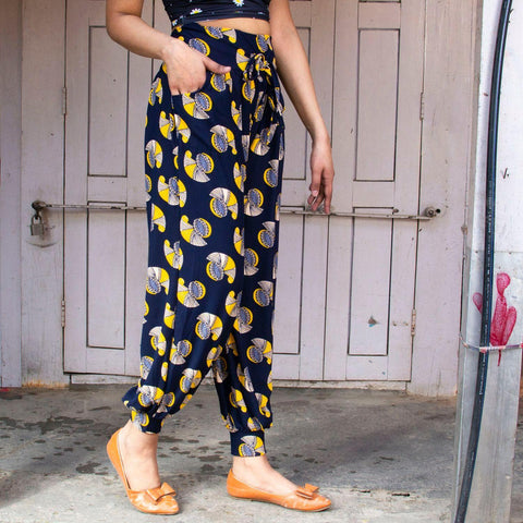 Floral Printed Cotton Plaso Styled Trousers(print may very) By Arushiprice in nepal