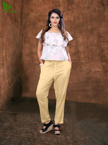 Women Pencil Pant in Cotton slub # 1002 price in nepal