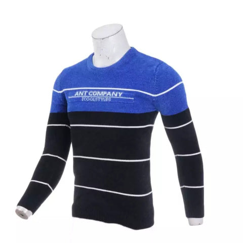 Men's Sweater 2020 Casual Striped Solid Color Sweater Men's Half-High Collar Stretch Tight Sweater Slim Knit Top By Bajrang price in nepal