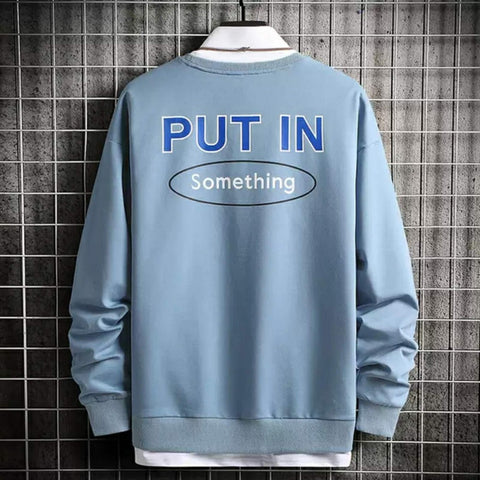 Put In Something Sweat Shirt Over Size
