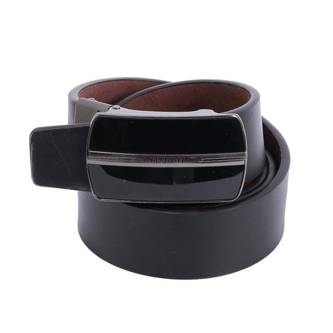 Combo Of 2 Black Plain Formal Belt For Men
