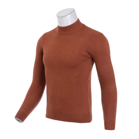 Men's Half Turtleneck Sweater Men's Fall Winter Pullover Sweaters Solid Color Sweater Men's Clothes By Bajrang