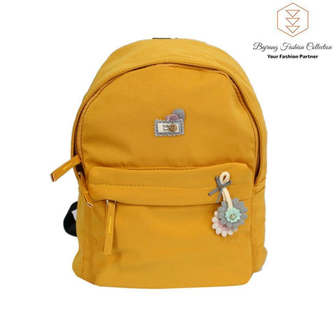 New Mini Backpack Fashion Canvas Women Backpack Doll Pendant Travel Women Shoulder Bag By Bajrang