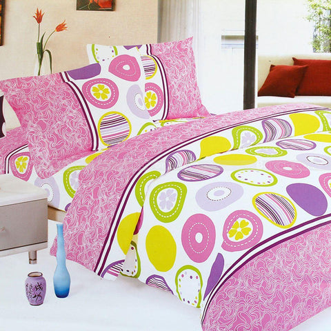 Home Glace Cotton 1 Bed Cover Set,1 Bed Sheet For Double Bed, 2 Pillow Covers, 4 Pcs Set price in nepal