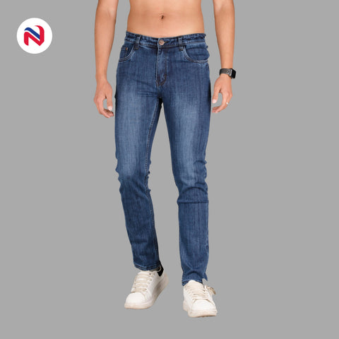 Nyptra Dark Blue Premium Stretchable Jeans For Men price in nepal