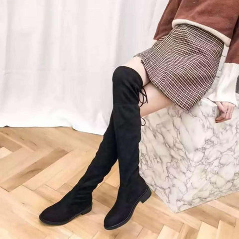 Black Knee High Boots For Women - ( Nep-1) price in Nepal