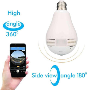 Wireless Panoramic Bulb 360° Ip Camera ,1.3Mp, Fisheye Vision, Smart Monitoring System