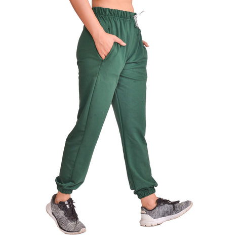 Green Solid Joggers For Women price in nepal