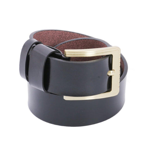 Black Solid Golden Buckle Belt For Men Price in Nepal
