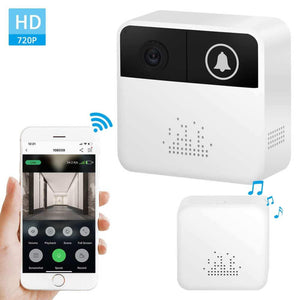 emWireless Wifi Video Doorbell 720P Hd Door Bells In-Home Security Camera Battery Powered 2-Way Audio App Control Ios Android price in nepal