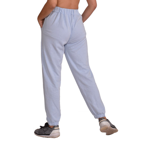 Light Grey Solid Joggers For Women