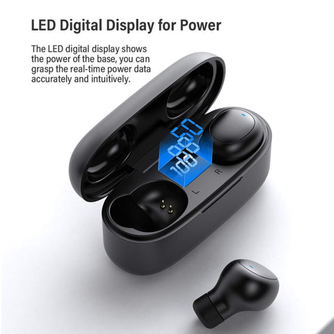 Dacom Original U7 Tws True Wireless Bluetooth Headphones With Led Display - Black