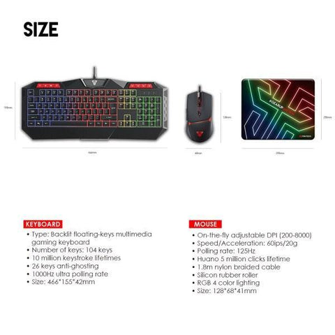 FANTECH P31 KEYBOARD, MOUSE AND MOUSEPAD