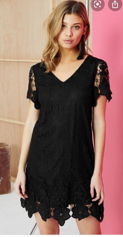 Black Lace Mini Dress price in nepal