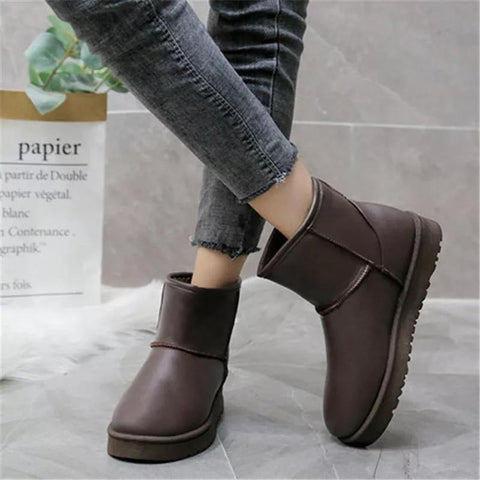 Women Winter Warm Snow Boots Fashionable Tassel Flat Platform Cotton Boots - ( UGG)